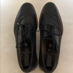 Johnston & Murphy Shoes - Johnston and Murphy Men's Black Leather Shoes Sz 9